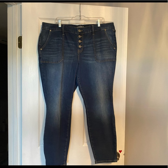 Torrid mid rise skinny button fly 20R
